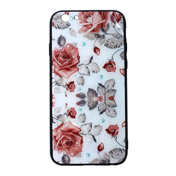 Floral Tempered Glass Case ( iPhone 6 )
