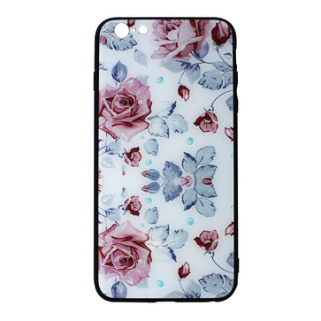 Floral Tempered Glass Case ( iPhone 7 )