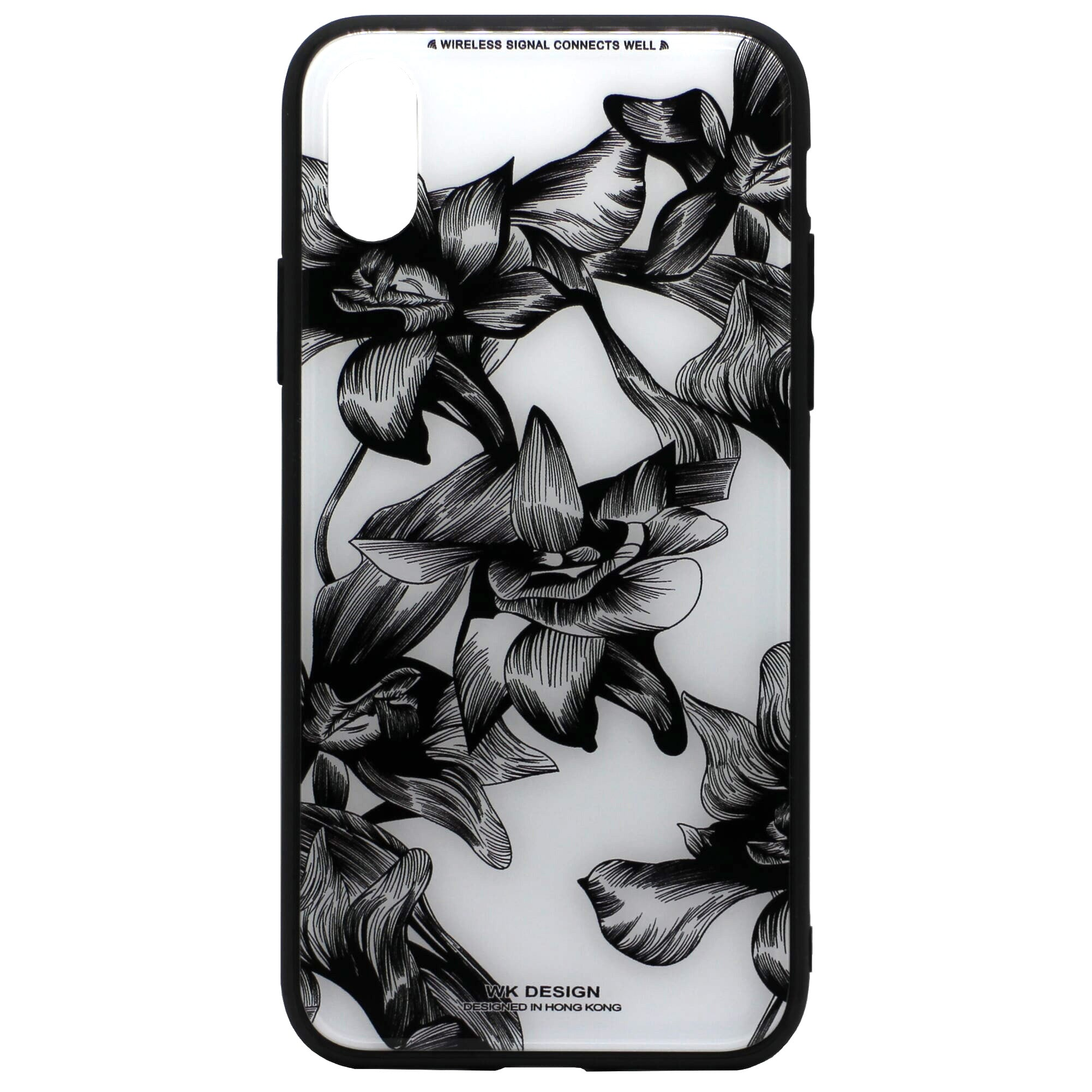 WK Tempered Glass Floral Case (iPhone X) - Chikili.com
