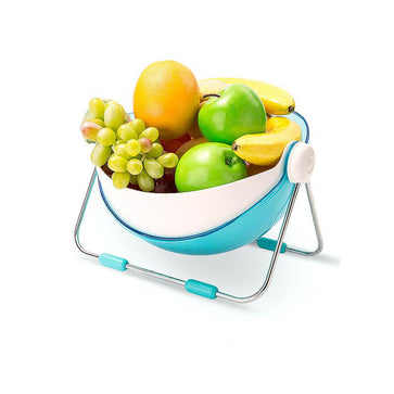 Double Layer Fruit Stand With Strainer