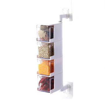 Wall Mount Spice Jar Set