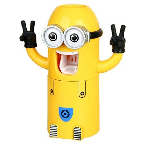 Minion Toothpaste Dispenser and Toothbrush Holder