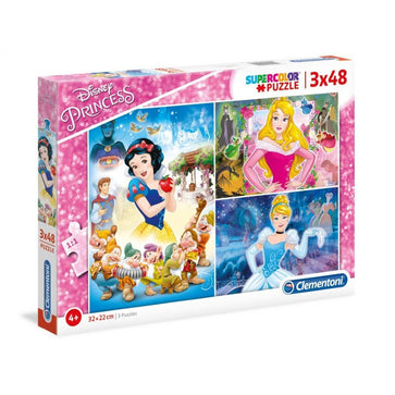 Clementoni Super Color Puzzle Disney Princess 3X48Pcs
