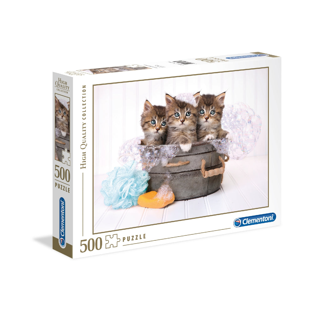 Clementoni Adult Puzzle The Kittens And Soap 500Pcs