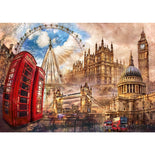 Clementoni Adult Puzzle Vintage London 1500Pcs