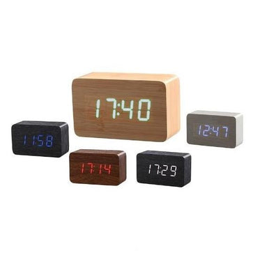 Wood Texture Rectangle Desk Clock