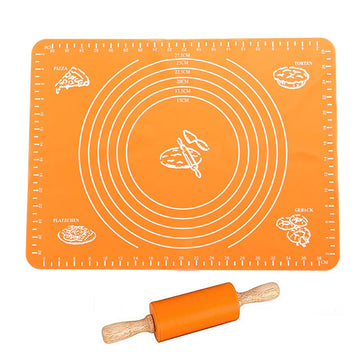 Silicone Roulant Mat With Rolling Pin