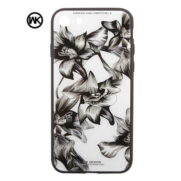 WK Tempered Glass Floral Case (iPhone 8)