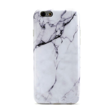 White Marble Silicone Case ( iPhone 6 plus )