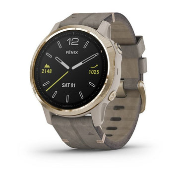 Garmin fēnix® 6S - Pro Sapphire Editions - Light Gold-tone with Shale Gray 010-02409-26