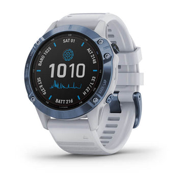 Garmin fēnix 6 - Pro Solar Edition Mineral blue with Whitestone band 010-02410-19