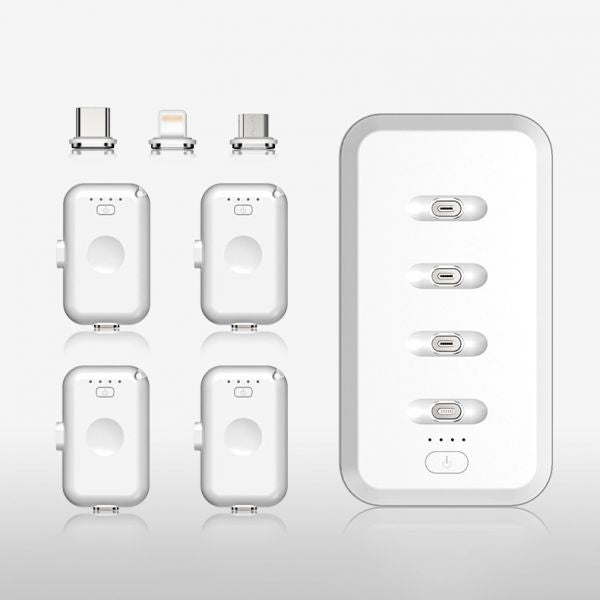 4-in-1 Magnetic Power Bank 8000 mAh