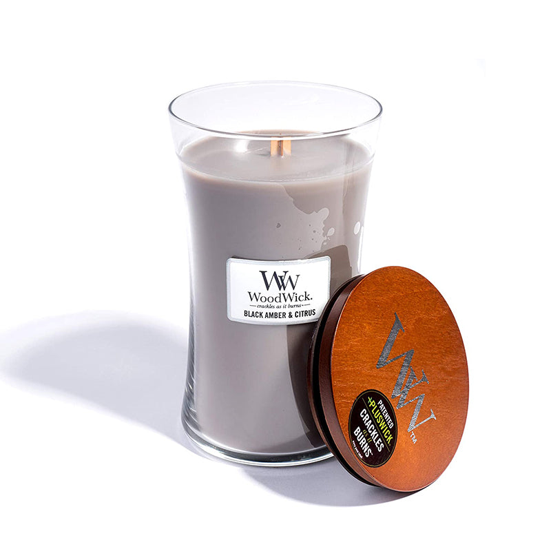 WoodWick Large Jar Black Amber and Citrus