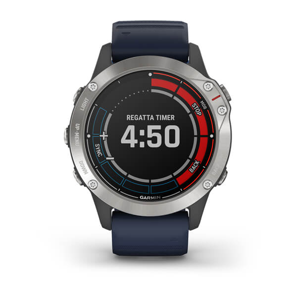 Garmin Quatix® 6 Grey with Captain Blue Band 010-02158-91