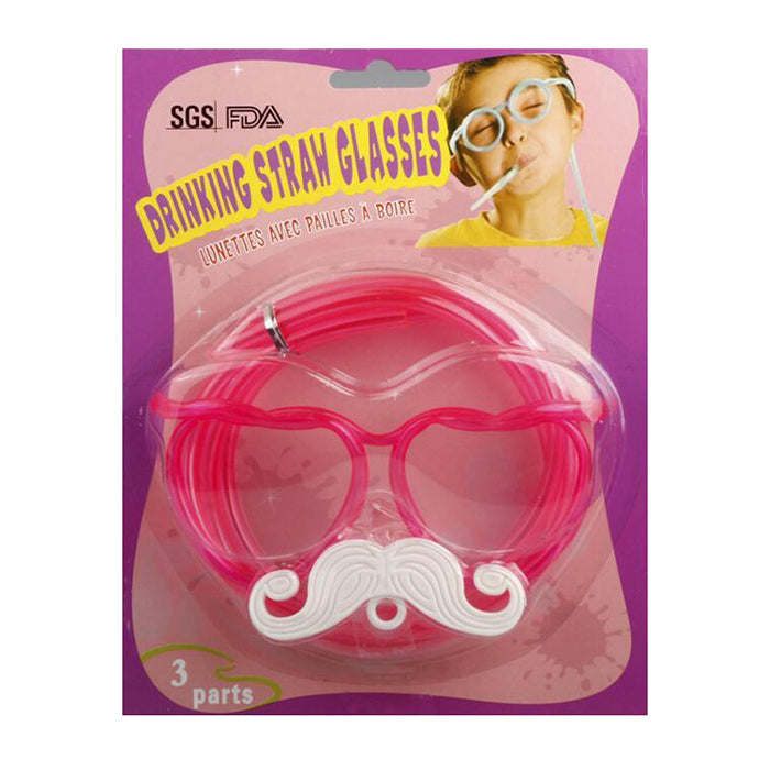 Moustache Straw Glasses