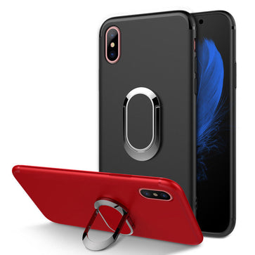Slim Matte Magnetic Ring Stand Case (iPhone X)