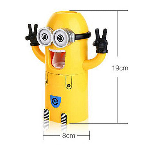 Minion Toothpaste Dispenser and Toothbrush Holder - Chikili.com