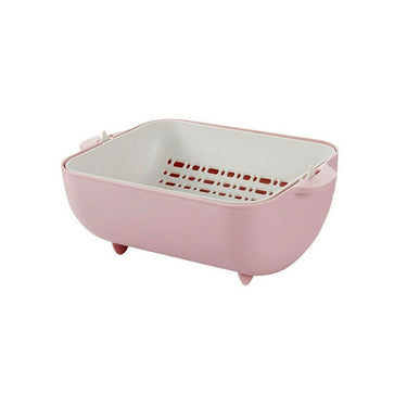 Rotating Fruits & Vegetable Draining Basket