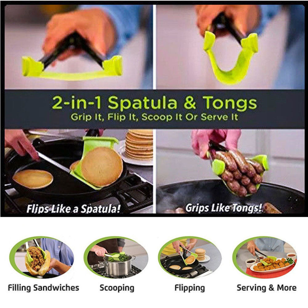 2 in 1 Spatula Tongs (Set of 2)