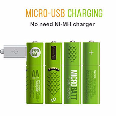 AA micro USB Rechargeable Battery - Chikili.com