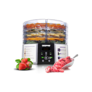 Geepas 520W Digital Food Dehydrator with 5 Large Trays