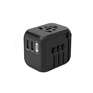 PD Quick Charger Travel Adaptor 2-USB + Type C