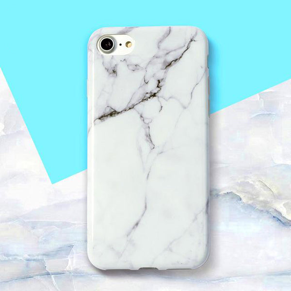 White Marble Silicone Case ( iPhone 6 )