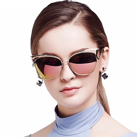 Women Sunglass Retro Cat Eyes (Polarized)