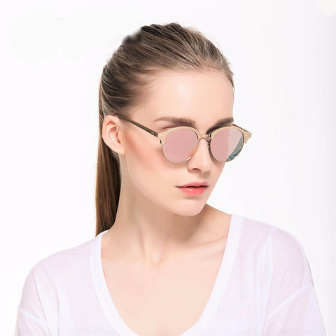 Round Polarized Retro Sunglass