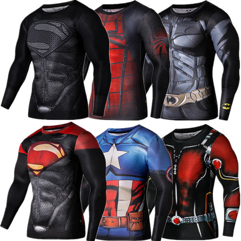 3D Shirt Superhero Long Sleeve