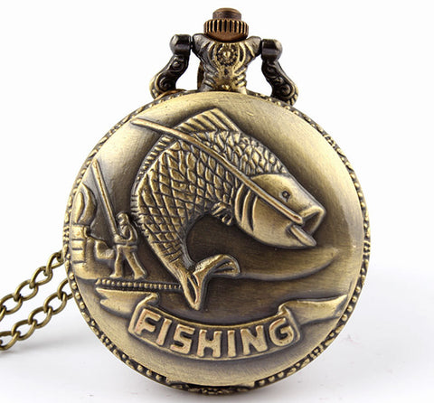 Fishing Pocket Watch