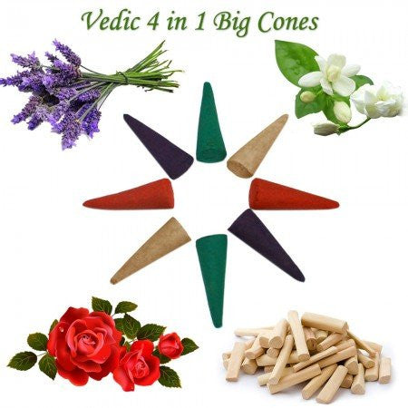 4 In 1 Big Cones 100 Pcs - SoundofVedas
