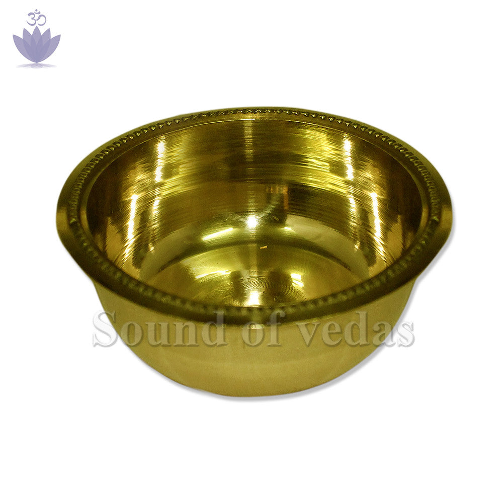 Bowl in brass with fine finish - 1.25 x 3.25 inch - SoundofVedas