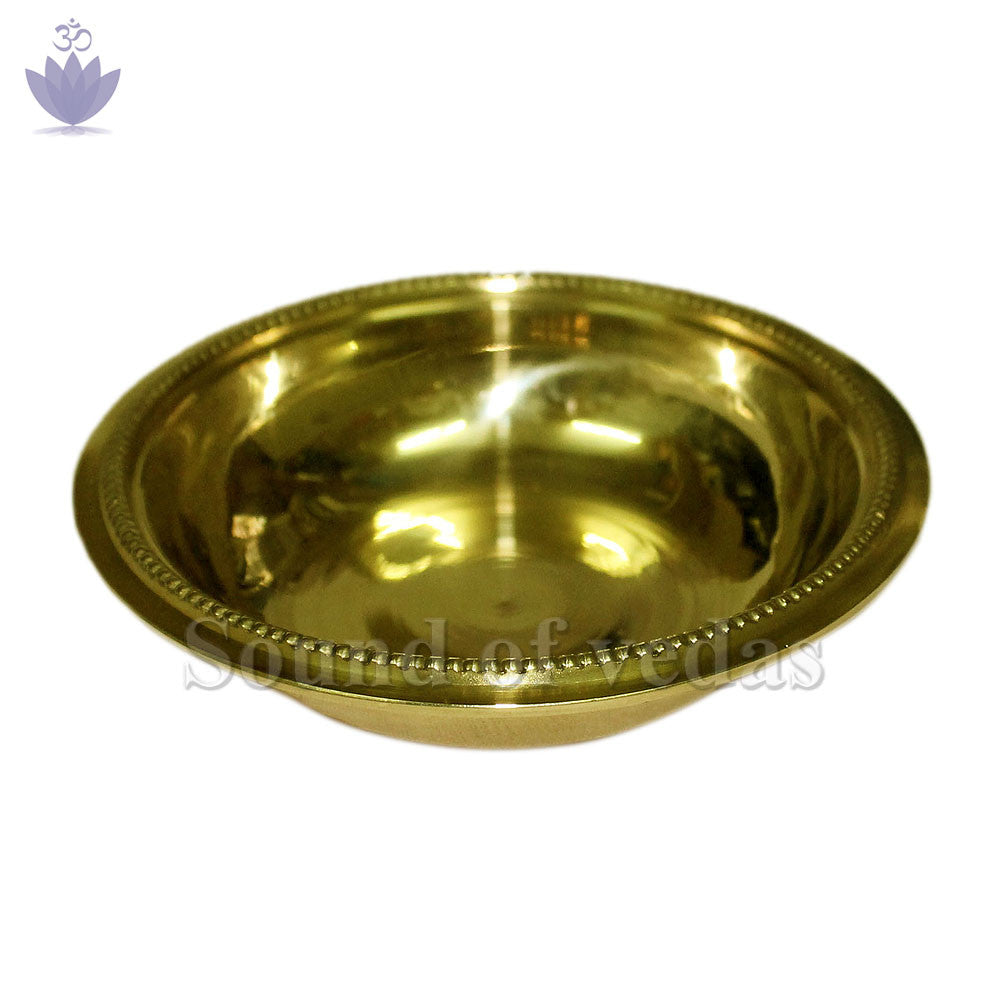 Bowl in brass with fine finish - 0.75 x 4.25 inch - SoundofVedas