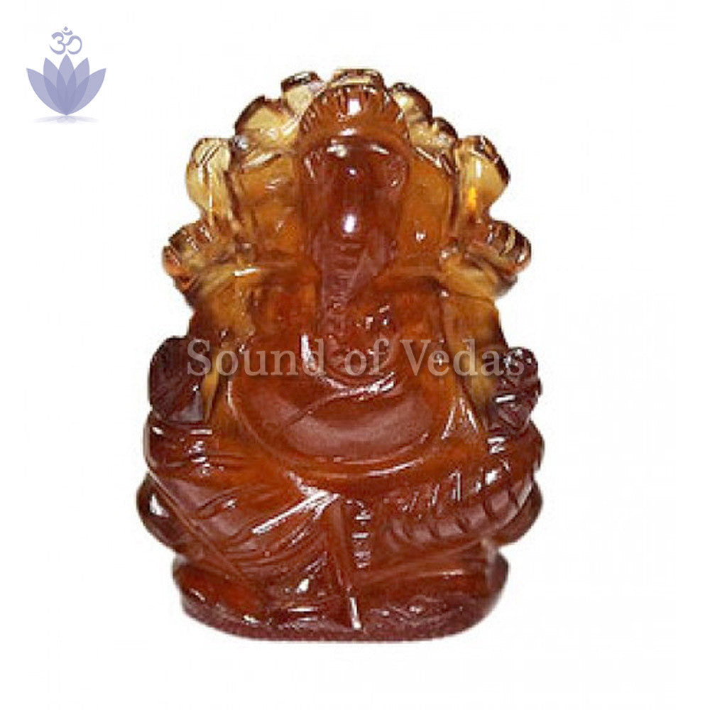 Ganesha in Gomedh / Hessonite – 55 carat