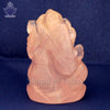 Ganesh Gemstone Murti in Rose Quartz - SoundofVedas - 2