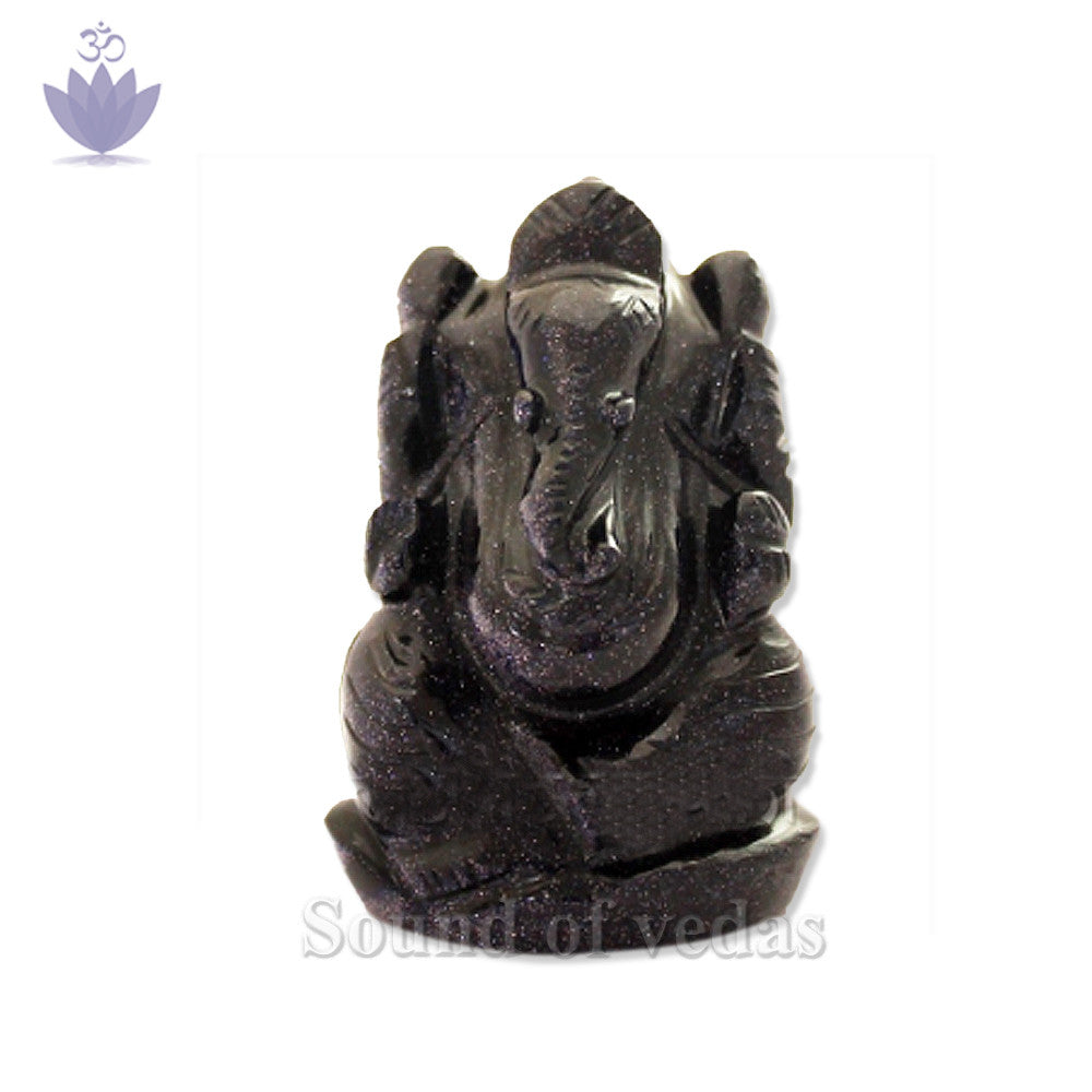 Ganesh Idol in Blue Sunstone - SoundofVedas - 1