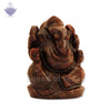 Ganesh Ji Idol in Red Jade Stone