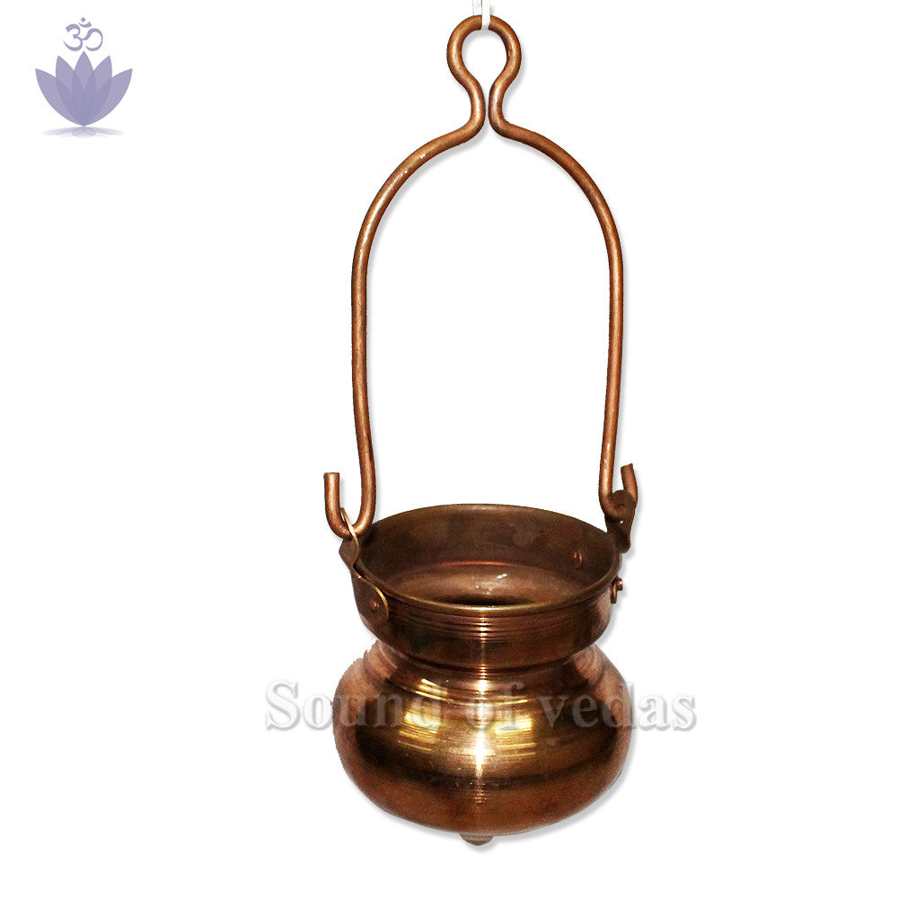 Jaldhara in Copper for Abhishekh - 12 inches - SoundofVedas - 1