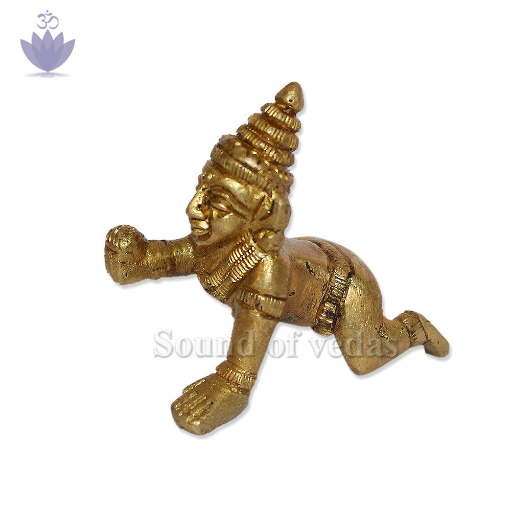 Ladoo Gopal in Brass - SoundofVedas - 2