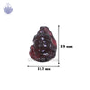 Face of Lord Shiva in Garnet Gemstone - SoundofVedas - 2