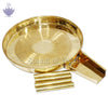 Abhishek tray - Gold Polished - SoundofVedas - 2
