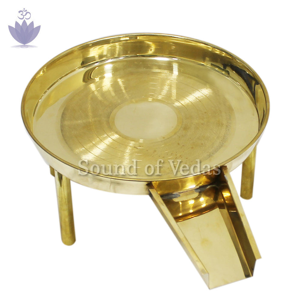 Abhishek tray - Gold Polished - SoundofVedas - 1