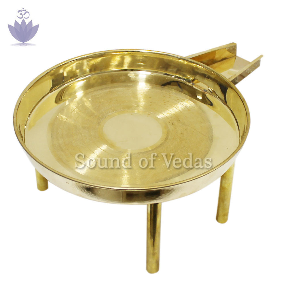 Abhishek tray - Gold Polished - SoundofVedas - 3