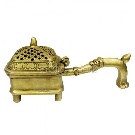 Bakhoor Incense Burner in Brass - SoundofVedas - 1