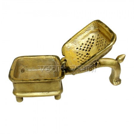 Bakhoor Incense Burner in Brass - SoundofVedas - 2