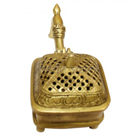 Bakhoor Incense Burner in Brass - SoundofVedas - 3