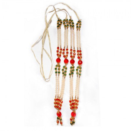 Colored Garlands for Deity big set of 2 - SoundofVedas