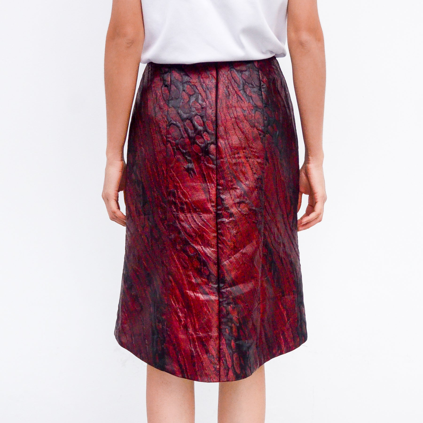 RED WINE TUBE SKIRT