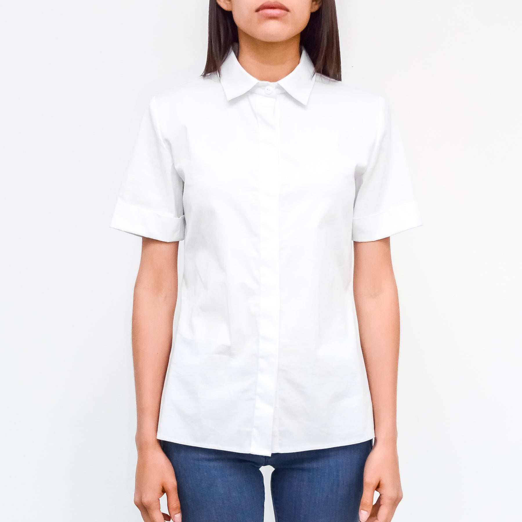 WHITE SHIRT - SHORT SLEEVE
